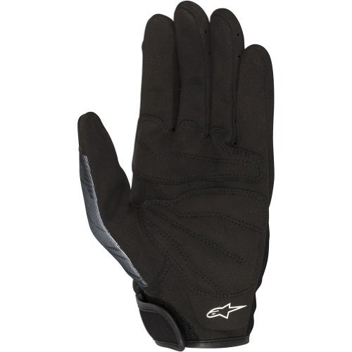 Alpinestars Mech Pro Men's Textile Street Bike Racing Motorcycle Gloves - Black/Gray / Medium