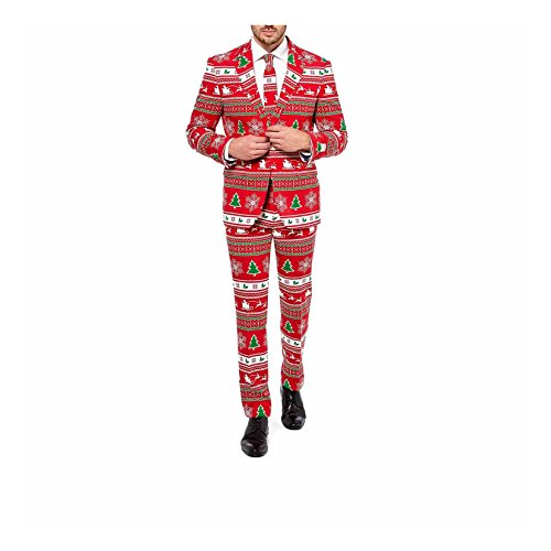 Men For Winter Wonderland Costume (Mens 'Winter Wonderland' Party Suit and Tie by OppoSuits,)