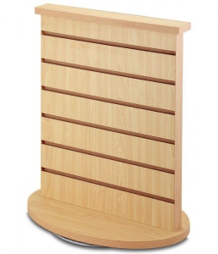New 2-Sided Slatwall Counter Spinner Maple Display Rack Great for Gift, Jewelry