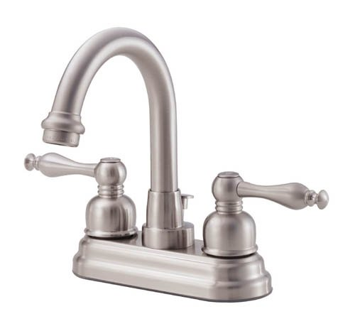 Danze D301255BN Sheridan Two Handle Centerset High-Rise Spout Lavatory Faucet, Brushed Nickel