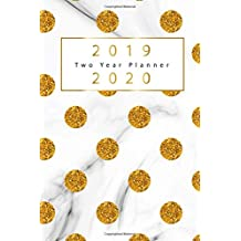 "2019-2020 Two Year Planner: Gold Dots Cover, 2 Year Calendar 2019-2020, January 2019 to December 2020, 2019-2020 Monthly Calendar, 2019-2020 Academic Planner, U.S. Holidays, 2 Year Monthly Pocket Planner, Size 6""x9"""