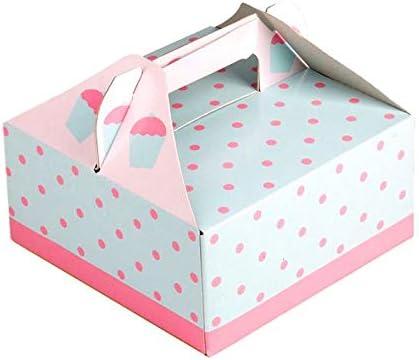 TKG 10 Cajas de Pastel, cartón para Tartas, por Ejemplo, para Cupcakes o Muffins, Caja de Regalo, Soporte para Tartas: Amazon.es: Hogar