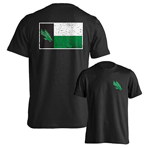North Texas Mean Green Texas State Flag Short Sleeve T-Shirt (Black, XL)