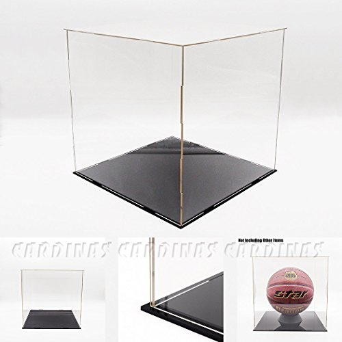 "Odoria Clear UV Acrylic Display Box Case 11.8"" Cube Big Size For Basketball Football Display Dustproof Protection"