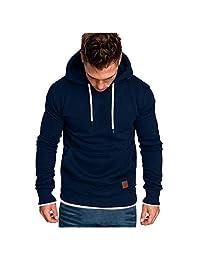 Men Fashion Long Sleeve Hoodies Sweatshirt, Male Solid Casual Autumn Winter T-Shirt Blouse Tracksuits Tunic Tops Sport Coat
