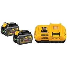 DEWALT DCB606-2 20/60V MAX FLEXVOLT 6.0 Ah Battery Dual Pack & DEWALT DCB118 20V MAX FLEXVOLT Fast Charger