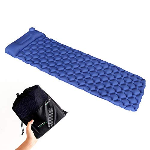 OUTFANDIA Outdoors Ultralight Self Inflatable Sleeping Pad for Hiking Backpacking and Camping - Contoured FlexCell Design - Perfect for Sleeping Bags and Hammocks [並行輸入品] B07R4TZ3NM