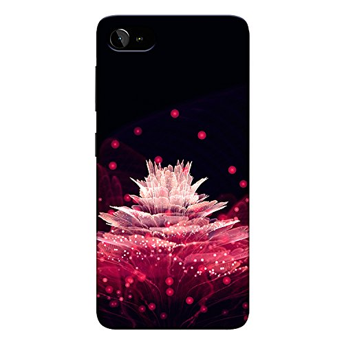 CrazyInk 3D Back Cover for Lenovo Zuk Z2 Plus   Pink Flower Transparent Mobile Accessories