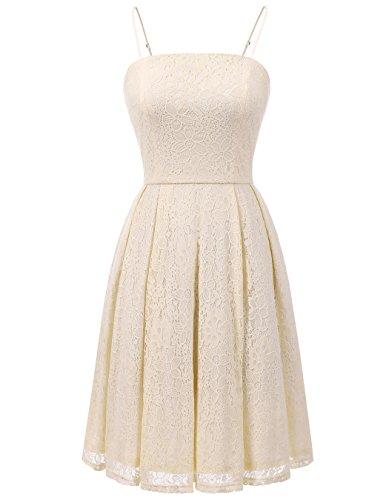 cream cocktail dresses - 5