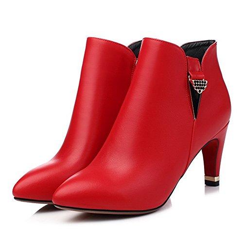 Unknown 1to9 - Sandales Compensées Pour Femmes, Rouge (rouge), 35 Eu