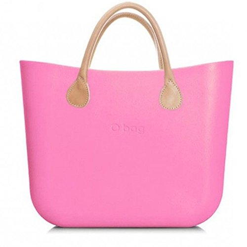 k Sacca Borsa Collection E Interna New Corto Manico Beige O Bag Rosa Grande Con afOBwqa