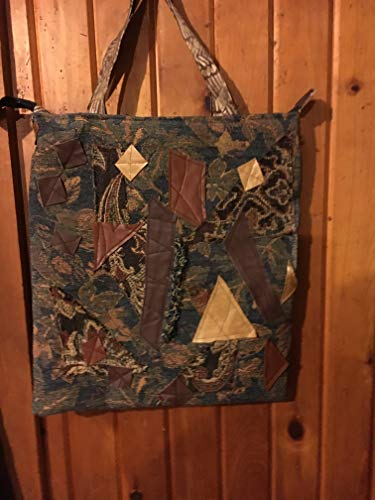 Collage Hobo - Large Bohemian tapestry collage hobo tote bag-Batooli Bags