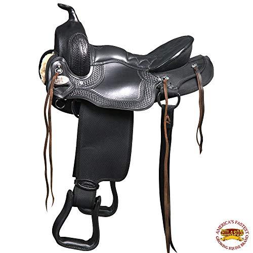 HILASON 17″ Western GAITED Trail Pleasure Endurance Horse Saddle Black
