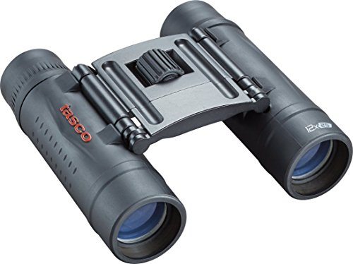 Tasco Essentials 12X25 Roof Binoculars, unisex, 178125, Black