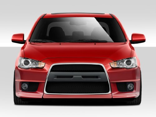 Duraflex ED-ZTG-405 Evo X V2 Front Bumper Cover - 1 Piece Body Kit - Compatible For Mitsubishi Lancer 2008-2017 ()