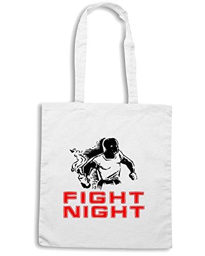 T-Shirtshock - Bolsa para la compra OLDENG00077 fight night Blanco