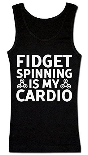 Fidget Spinning Is My Cardio T-shirt senza maniche da donna