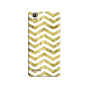 Cover It Up - Gold White Tri Stripes F1 Hard case
