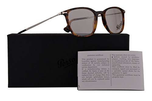 Persol PO3146V Eyeglasses 53-19-140 Light Havana w/Demo Clear Lens 108 PO3146-V PO 3146-V PO 3146V (Women Persol For Eyeglasses)