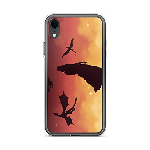 iPhone XR Case Anti-Scratch Television Show Transparent Cases Cover Illustration Featuring Daenerys Targaryen from Game of Tv Shows Series Crystal Clear
