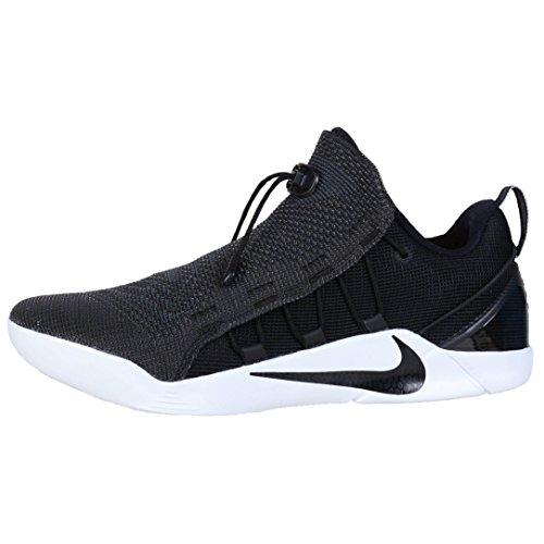 Nike Mens Kobe A.D.NXT Scarpe da pallacanestro nere / argento metallizzato / bianco 882049-007 Taglia 14