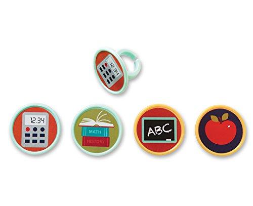 - DecoPac School Supplies Cupcake Rings (12 Count)