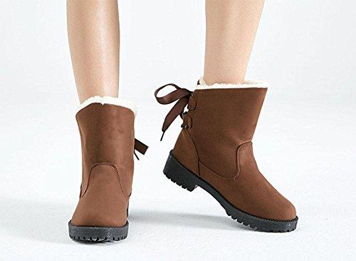 invernali cachemire scarpe da calde stivali Scarpe donna di stivali neve brown cotone più da di ispessimento cotone da stivali scarpe donna qZHZwx4fP