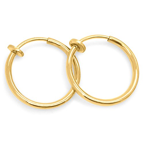 gold hoop earrings for unpierced ears
