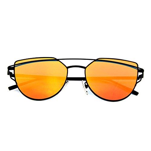 Smileyes Lunettes de soleil Femme et Homme Polygone en vogue cool TSGL009  Orange 68196b30423a