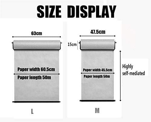 1set Weiß Wandhalterung aus Metzgerpapier passen Pathologisches Analyse-Wanddiagramm der medizinischen Fakultät oder Arithmetische Argumentation zum Hängen von Notebooks,47.5cm/18.7In