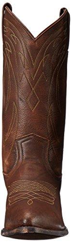 FRYE - Botas de cuero para hombre Dark Brown Calf Shine Vintage - 87689