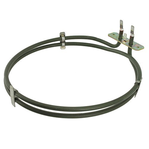 Spares2go 2 Turn Heater Element For Zanussi ZKC5540X Fan Oven / Cooker 2100W