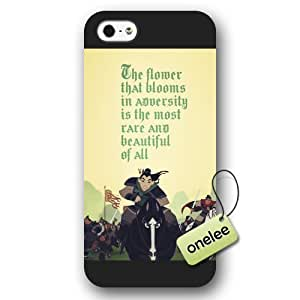 Disney Cartoon Mulan Frosted Phone Case & Cover for iPhone 5/5s - Black