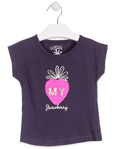 61f24e823 losan Camiseta con Manzana de Lentejuelas Reversibles Color Azul para niña  916-1211  Amazon.es  Ropa y accesorios