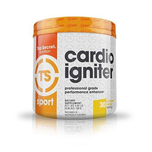 Top Secret Nutrition Cardio Igniter Pre-Workout Supplement with Beta-Alanine, L-Carnitine, and Beet Root Extract, 6.35 oz. (180g), (30 Servings) Pineapple Mango