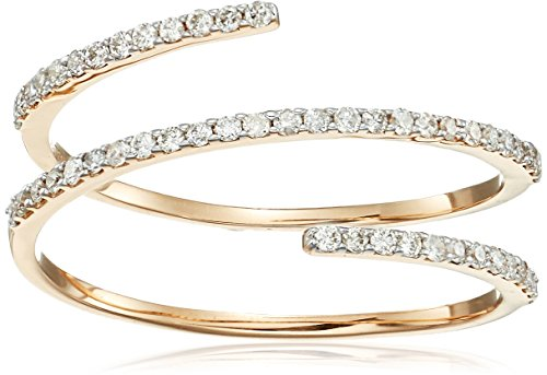 MATEO 14k Gold Diamond Spiral Ring, Size