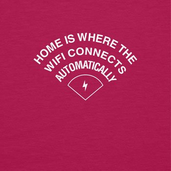 TEXLAB - Home is where the WIFI connects automatically - Turnbeutel, fuchsia