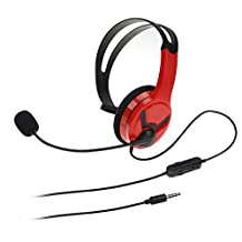 AmazonBasics Chat Headset for PlayStation 4 (Officially Licensed)  - Red