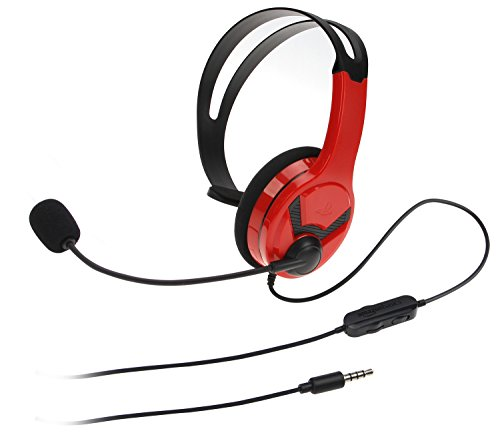 - AmazonBasics Gaming Chat Headset for PlayStation 4 with Microphone - 4 Foot Cable, Red