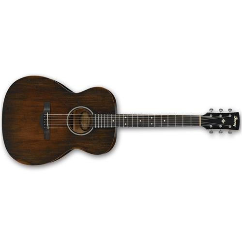 Ibanez AVC6 Artwood Vintage Distressed Grand Concert Acoustic Guitar Tobacco Sunburst ()