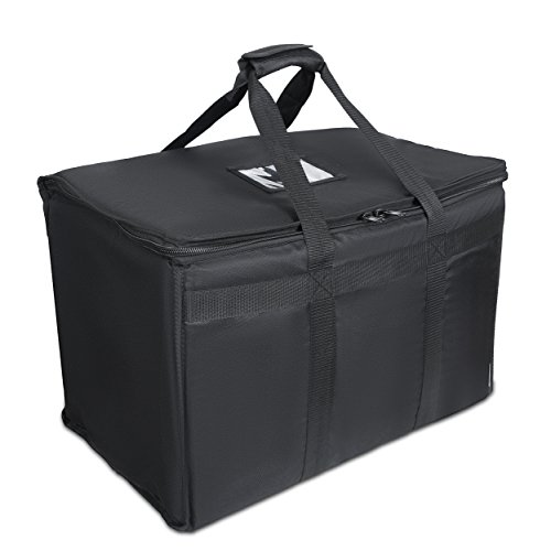 "Food Delivery Bag. Heavy Duty Bag with Strong Insulation. Reinforced Stitching for Heavy Loads. Perfect for Food Delivery & Commercial Transportation. Fit Chafing Trays. Large Capacity (23""x14""x15""). by Trust the Fresh"