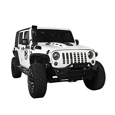 Hooke Road Front US American Flag Jeep Grille Insert Old Glory for 2007-2020 Jeep Wrangler JK & Wrangler Unlimited (Black Out): Automotive