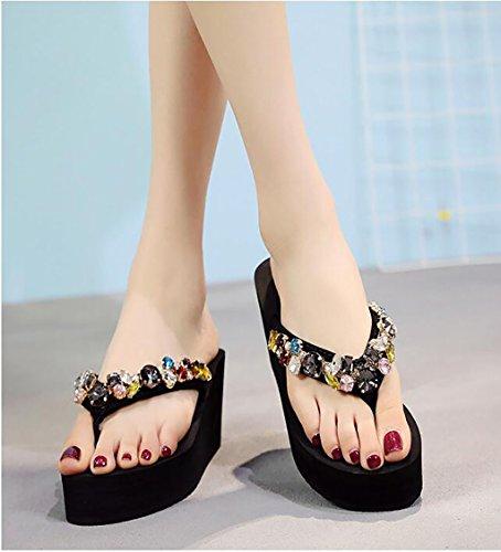 Pantoufles Sandales C Chaussures Mode avec nbsp; pour Mode Couleur Plage Pantoufles Tongs Sauvages Plates à 37 de Femmes Taille de Hauts Caleçon C en Sandales Talons FAFZ Chaussons UC6pwnx