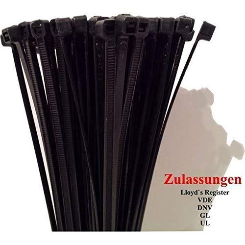 Kabelbinder 102 x 2,5mm - 2.500 zertifizierte Qualitäts-Binder - schwarz B07N95CT2T | Deutschland Shop