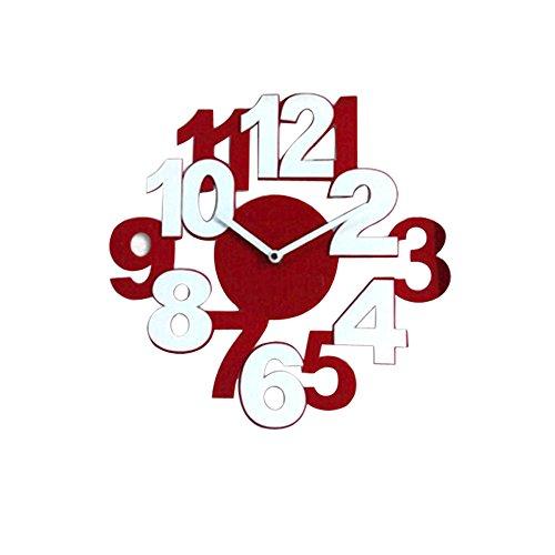 Alarm Clock, Hevoiok European Style Wooden Clock Posters Retro Wall Clock Home Decor Office Bedroom Decoration Craft Art Clock