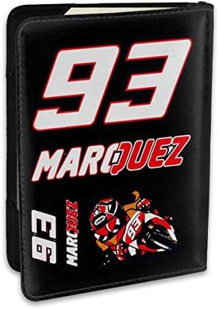 マルク・マルケス MotoGP バイク王 パスポートケース パスポートカバー メンズ レディース パスポートバッグ ポーチ 収納カバー PUレザー 多機能収納ポケット 収納抜群 携帯便利 海外旅行 出張 クレジットカード 大容量