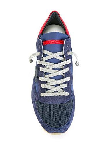 Philippe Model Sneakers Uomo TRLUWX30 Camoscio Blu/Rosso