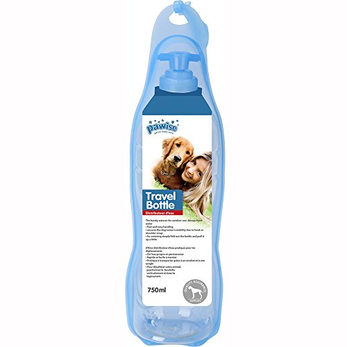 PAWISE Pet Handy Waterer for Dogs and Cats, Portable Dog Travel Bottle Water Dispenser, 25oz