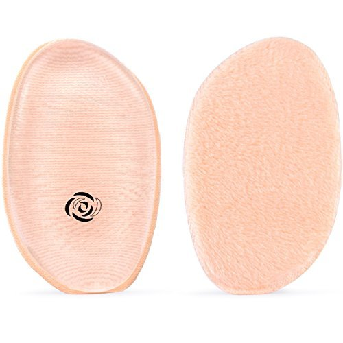 2-Pack Silicone Makeup Sponge By iCharm: Drop-Shaped Hypoalergenic Blender & 2-sided Silisponge/Cotton Powder Puff-Reusable,Easily Washed, Zero Foundation Absorption Applicators-Beauty, Cosmetics Tool