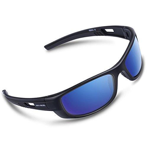 RIVBOS Polarized Sports Sunglasses Driving Sun Glasses for Men Women Tr 90 Unbreakable Frame for Cycling Baseball Running Rb852